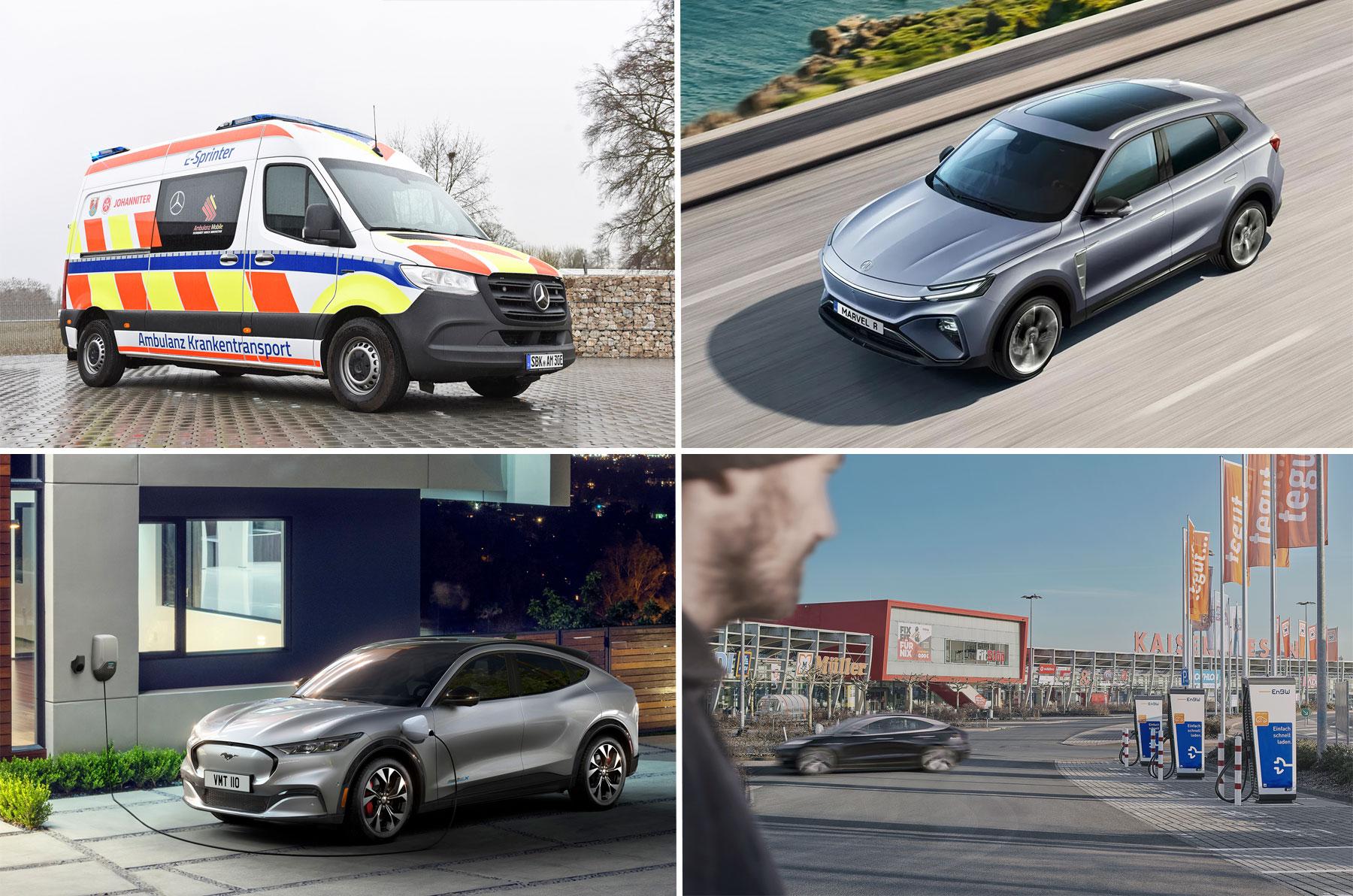 Weekend Kompakt: Der MG Marvel R, vollelektrischer Krankenwagen von Daimler, Ford gewährt 25% Versicherungsnachlass auf MACH-E, EnBW und Hahn-Gruppe kooperieren - e-engine - Alles rund um E-Mobilität